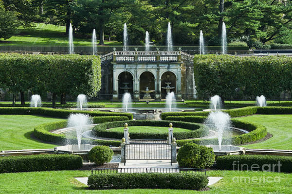 Longwood Gardens Photograph -  Longwood Gardens Fountains by John Greim