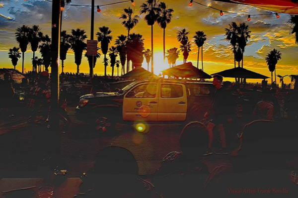 Digital Art -  Los Angeles Police    Venice Beach Substation by Visual Artist Frank Bonilla