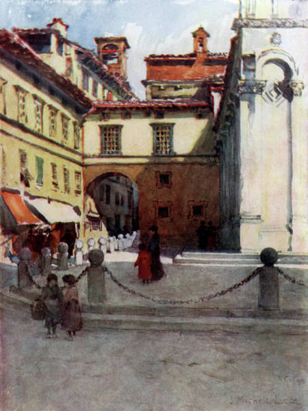 Angle Drawing -  Lucca  Piazza San Michele, Showing An by Mary Evans Picture Library