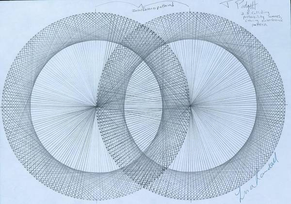 Fractal Drawing -  Magnetism by Jason Padgett
