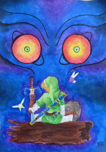 Videogame Painting -  Majoras Oblivion by Jackie Sabillon