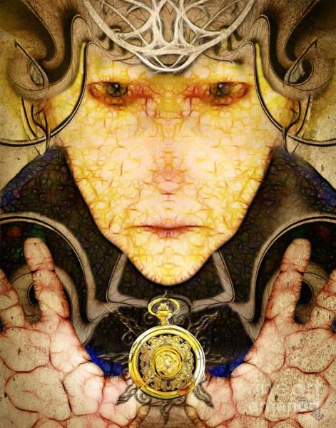 Digital Art -  Maliciounata The Time Thief  by Rhonda Strickland