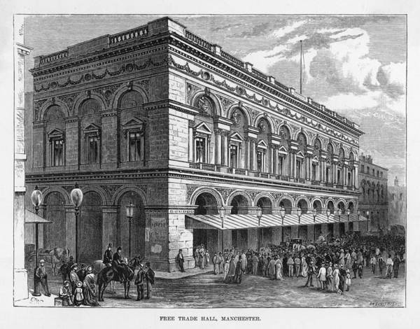 Manchester Drawing -  Manchester  Free Trade Hall by Mary Evans Picture Library