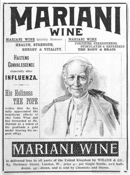 Wall Art - Drawing -  Mariani Wine, Good For Health by  Illustrated London News Ltd/Mar