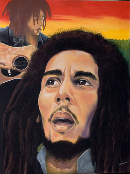 Weeds Drawing -  Memory Of Bob Marley by Joyce Hayes