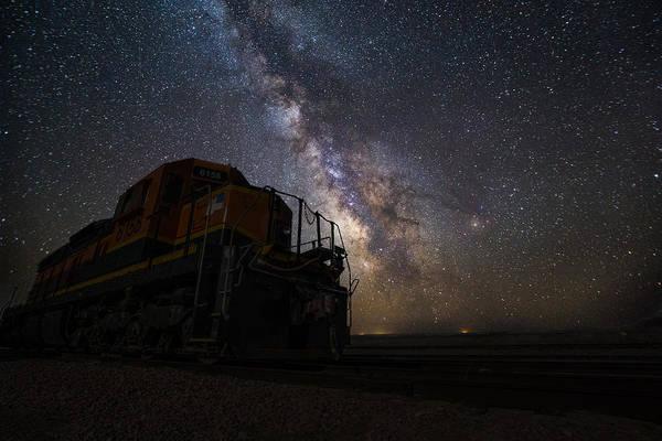 Wall Art - Photograph -  Midnight Train by Aaron J Groen