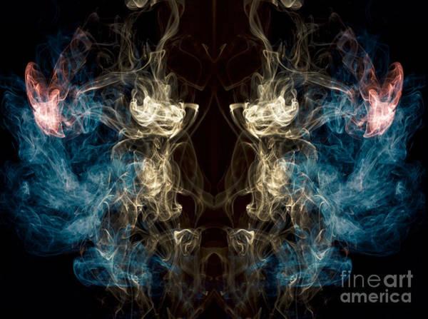 Photograph -  Minotaur Smoke Abstract by Edward Fielding