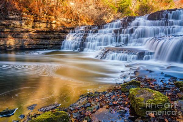 Wall Art - Photograph -  Morning Light Upper Burgess Falls by Anthony Heflin