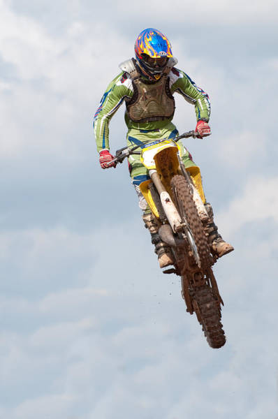 Dirtbike Photograph -  Motocross Rider by Roy Pedersen