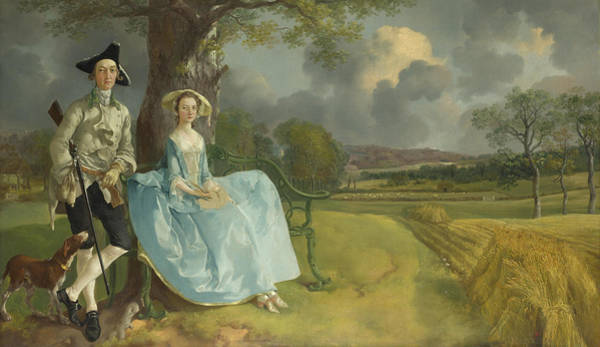 Thomas Gainsborough Wall Art - Painting -  Mr And Mrs Andrews by Thomas Gainsborough