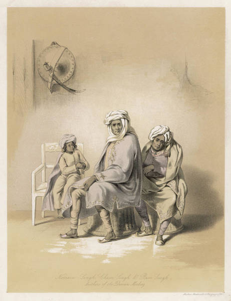 Singh Drawing -  Multan -  The Brothers (nerain Singh by Mary Evans Picture Library