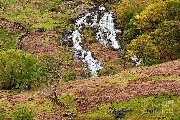 Wall Art - Photograph -  Nant Gwynant Waterfalls IIi by Maciej Markiewicz