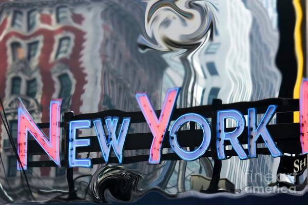 Wall Art - Photograph -  New York Neon Sign by Sophie Vigneault