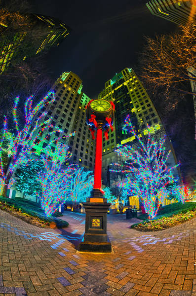 Nightlife Around Charlotte During Christmas Art Print