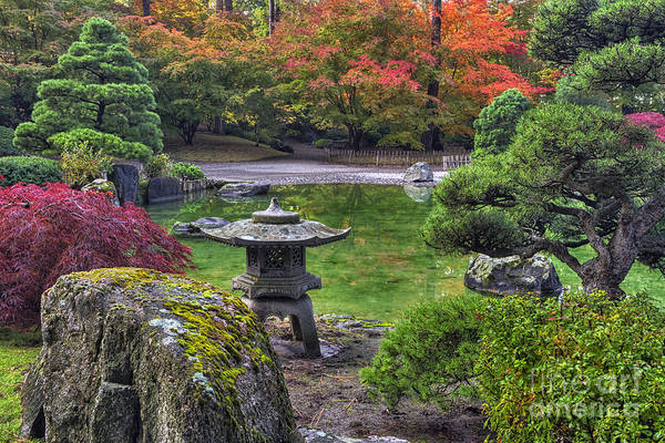 Photograph -  Nishinomiya Japanese Garden -japanese Lantern by Mark Kiver