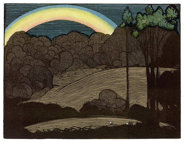Nocturnal Drawing -  Nocturnal Rainbow         Date 1901 by Mary Evans Picture Library