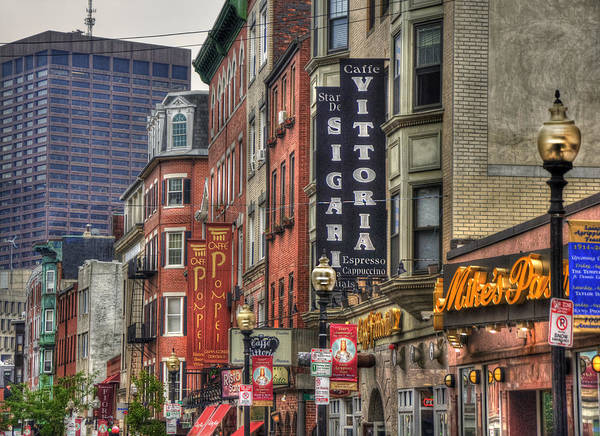 Sidewalk Cafe Photograph -  North End Charm - Boston by Joann Vitali