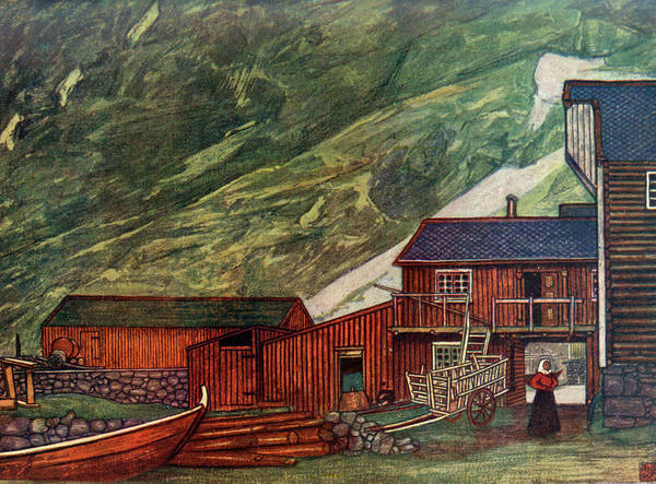 Fjord Drawing -  Norwegian Scenery  Near Sundalsoren by Mary Evans Picture Library
