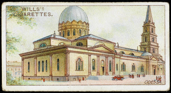 Ukraine Drawing -  Odessa  Preobrazhenski  Cathedral by Mary Evans Picture Library