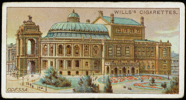 Ukraine Drawing -  Odessa  The Opera House        Date by Mary Evans Picture Library