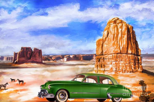 48 Wall Art - Painting -  Oldsmobile Futuramic 48 by Andrzej Szczerski