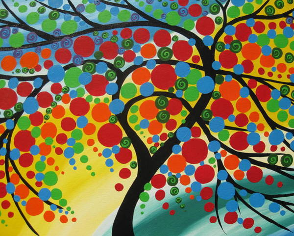 Cathy Painting -  Orb Tree  by Cathy Jacobs