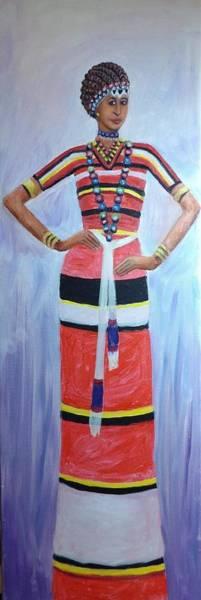 Wall Art - Painting -  Oromo Lady by Samuel Daffa