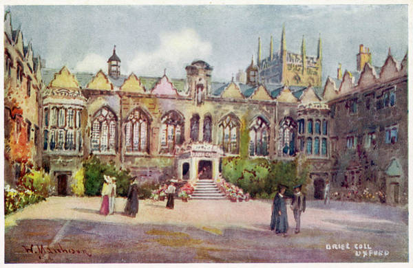 Wall Art - Drawing -  Oxford Oriel College        Date Circa by Mary Evans Picture Library