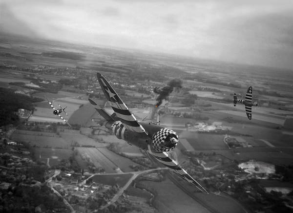 Wall Art - Photograph -  P47 Thunderbolt - D-day Train Busters by Pat Speirs