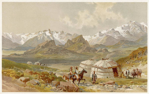 Nomad Drawing -  Pamir Mountains         Date 1892 by Mary Evans Picture Library