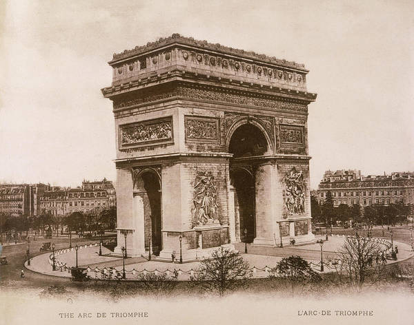 Wall Art - Photograph -  Paris  Arc De Triomphe        Date by Mary Evans Picture Library