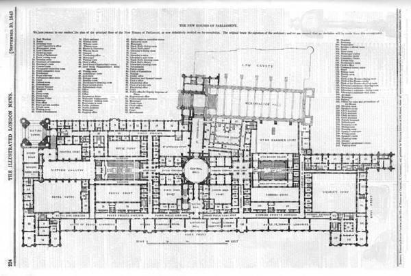 Wall Art - Drawing -  Plan Of The Principal Floor by  Illustrated London News Ltd/Mar