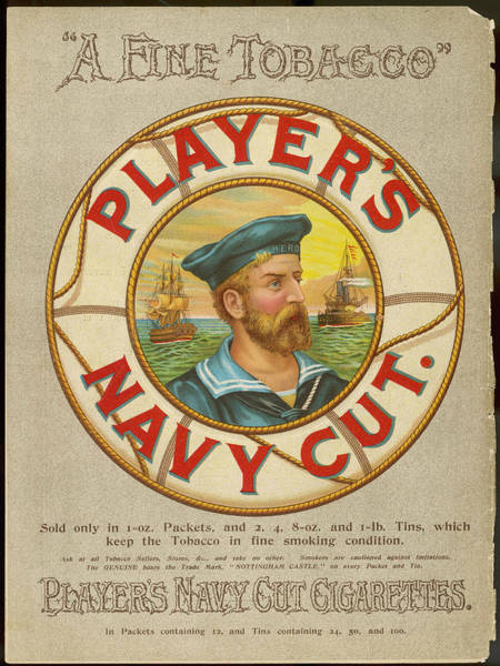 Wall Art - Drawing -  Player's Navy Cut Cigarettes -  A Fine by Mary Evans Picture Library