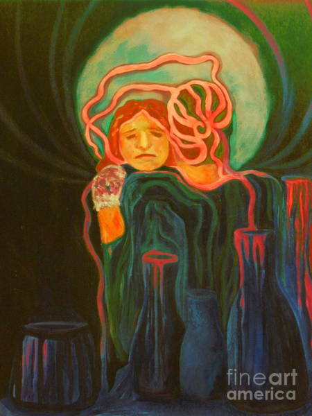 Alcoholism Painting - The Unavailable Mother by Carolyn LeGrand