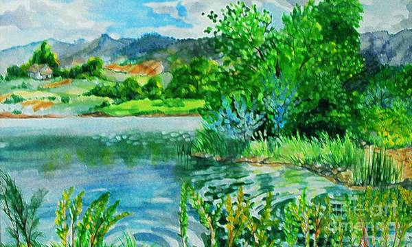 Plin Air Water Color Art Print by Annie Gibbons