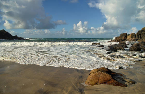 Photograph -  Porthmeor Cove In North Cornwall by Pete Hemington