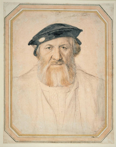German Renaissance Drawing -  Portrait Of Charles De Solier by Hans Holbein the Younger