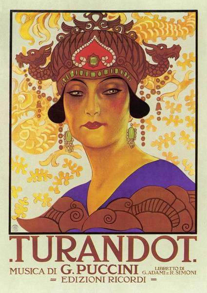 Wall Art - Drawing -   Portrait Of Princess Turandot by Mary Evans Picture Library