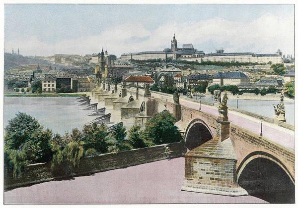 Czechoslovakia Photograph -  Prague  Charles Bridge        Date by Mary Evans Picture Library