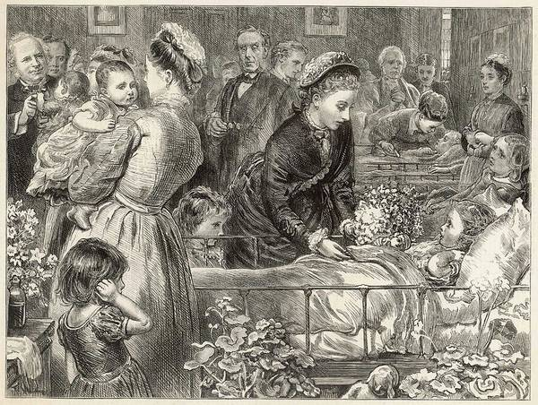 Wall Art - Drawing -  Princess Louise Visits The  Victoria by  Illustrated London News Ltd/Mar