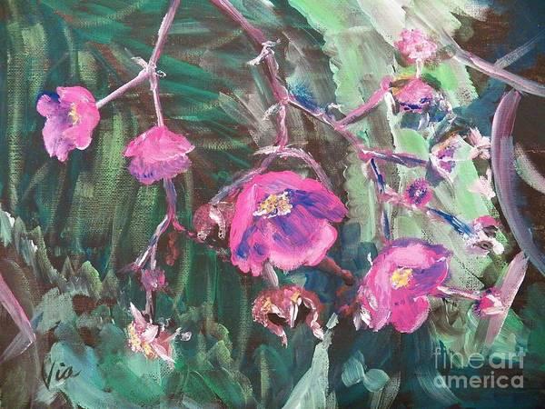 Adirondack Mountains Painting -  Ptg  Adirondack Wildflower by Judy Via-Wolff