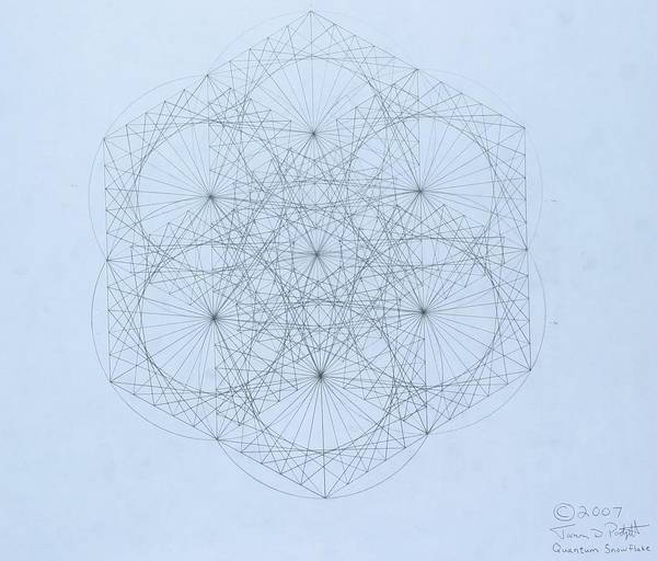 Energy Drawing -  Quantum Snowflake by Jason Padgett