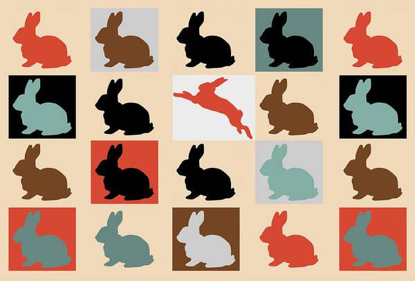 Wall Art - Digital Art -  Rabbits by Mark Ashkenazi