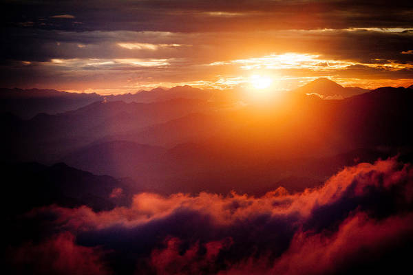 Wall Art - Photograph -  Raimond Klavins Fotografika.lv Golden Sunset Himalayas Mountain Nepal by Raimond Klavins