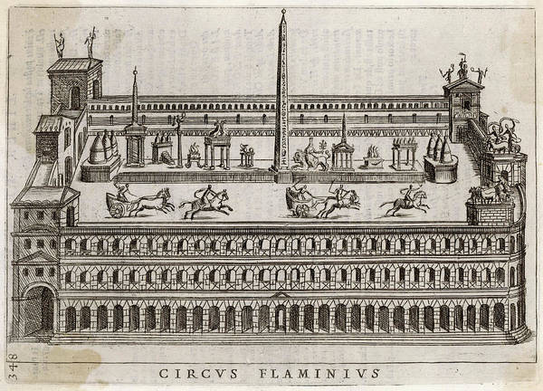 Reconstruction Drawing -  Reconstruction Of The Circus Flaminius by Mary Evans Picture Library