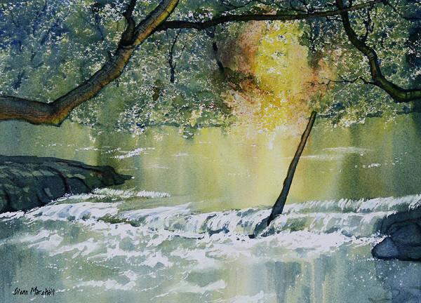 Painting -  River Esk In Full Flow by Glenn Marshall