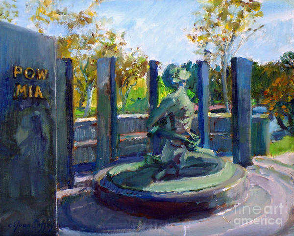 Painting -  Riverside National Cemetery Pow Mia Memorial by Joan Coffey