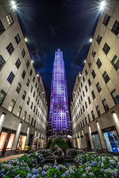 Nightscape Photograph -  Rockefeller Center - New York - New York - Usa 3 by Larry Marshall
