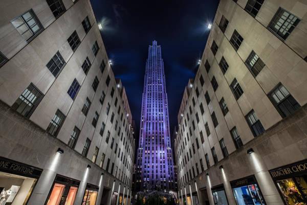 Nightscape Photograph -  Rockefeller Center - New York - New York - Usa 4 by Larry Marshall