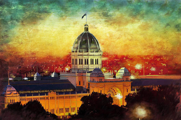 Rainforest Painting -  Royal Exhibition Building by Catf